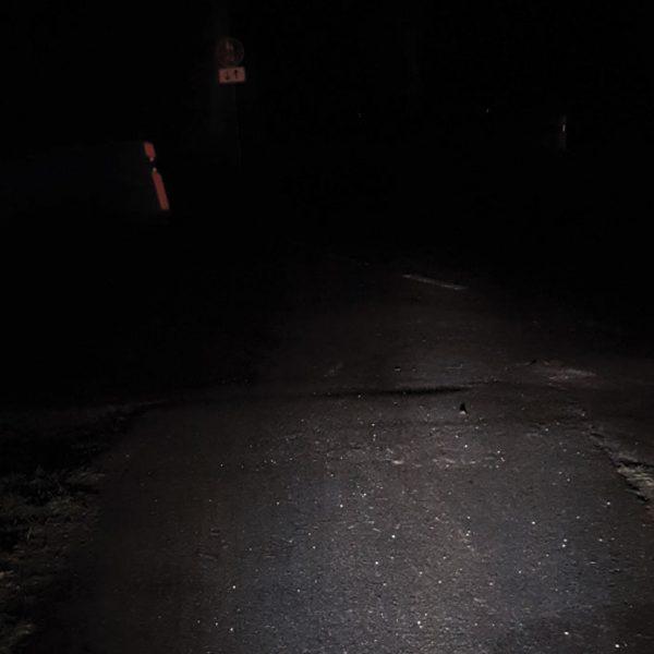 Nachts bei schlechtem Wetter sind alle Radler*innen blind …